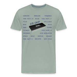 Programmer's T-Shirt, 6581 SID Chip (Commodore 64) - Men's Premium T-Shirt