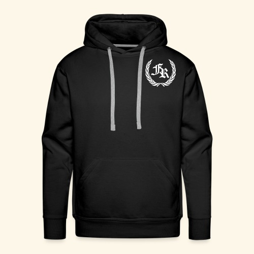 FuMe Hoodie With Back Text -White Badge Edition- (Brand Spreadshirt) - Men's Premium Hoodie
