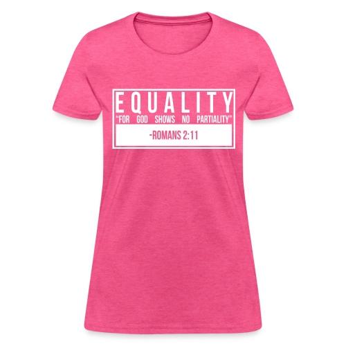 Equality T-Shirt (Women's - Pink) - Women's T-Shirt