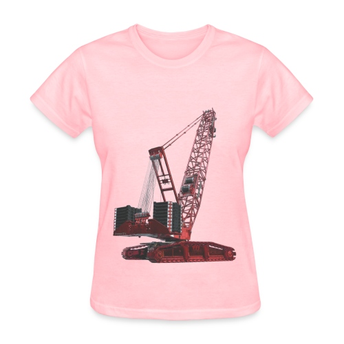 Crawler Crane 750t - Red - Women's T-Shirt