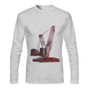 Crawler Crane 750t - Red - Men's Long Sleeve T-Shirt by Next Level