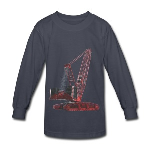 Crawler Crane 750t - Red - Kids' Long Sleeve T-Shirt