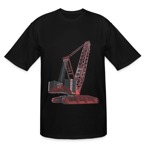 Crawler Crane 750t - Red - Men's Tall T-Shirt
