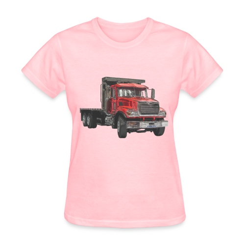 Flatbed Truck - Red - Women's T-Shirt