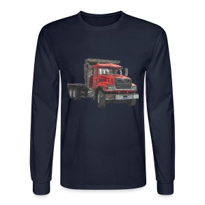 Flatbed Truck - Red - Men's Long Sleeve T-Shirt