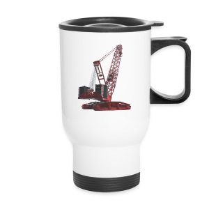 Crawler Crane 750t - Red - Travel Mug