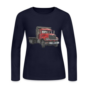 Flatbed Truck - Red - Women's Long Sleeve Jersey T-Shirt