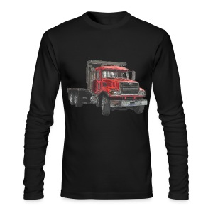 Flatbed Truck - Red - Men's Long Sleeve T-Shirt by Next Level