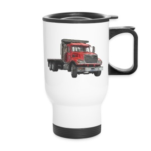 Flatbed Truck - Red - Travel Mug