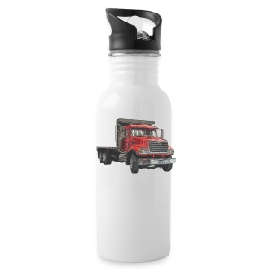 Flatbed Truck - Red - Water Bottle