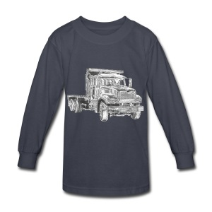 Flatbed Truck - Kids' Long Sleeve T-Shirt