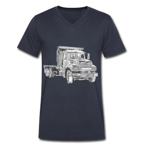 Flatbed Truck - Men's V-Neck T-Shirt by Canvas