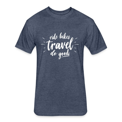 Ride Bikes Travel  - Fitted Cotton/Poly T-Shirt by Next Level