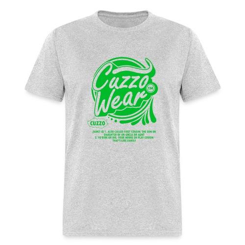 CUZZO WEAR (Green Text) - Men's T-Shirt