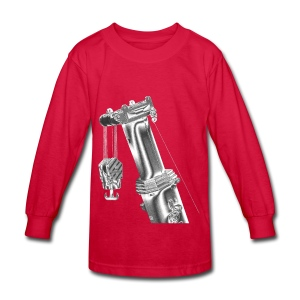 Mobile Crane Boom Top - Kids' Long Sleeve T-Shirt