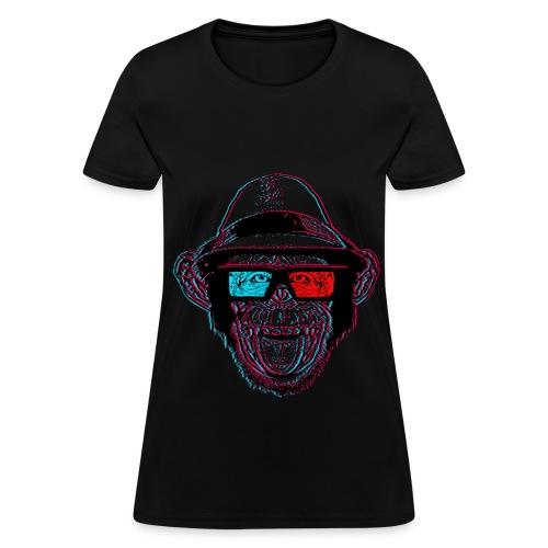 3D Monkey T-Shirt - Women's T-Shirt