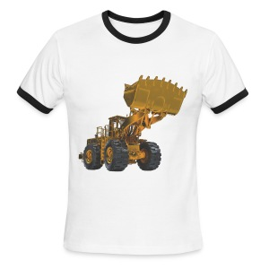 Old Mining Wheel Loader - Yellow - Men's Ringer T-Shirt