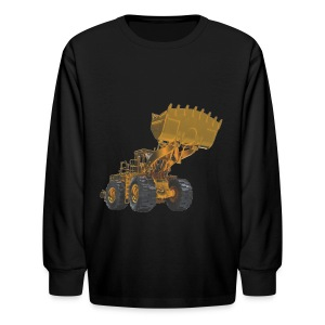 Old Mining Wheel Loader - Yellow - Kids' Long Sleeve T-Shirt