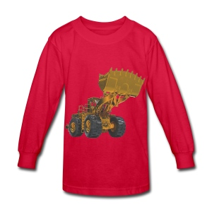 Old Mining Wheel Loader - Yellow - Kids' Long Sleeve T-Shirt