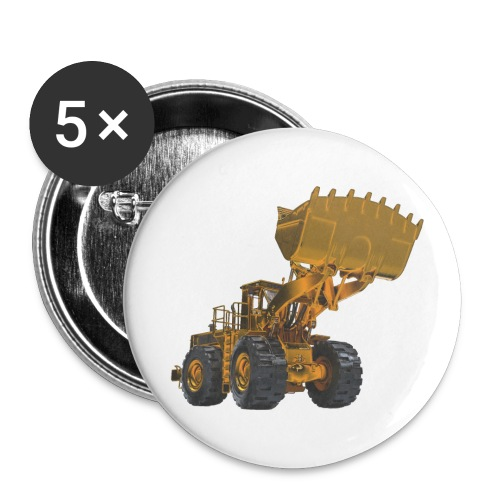 Old Mining Wheel Loader - Yellow - Large Buttons