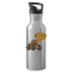 Old Mining Wheel Loader - Yellow - Water Bottle