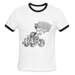 Old Mining Wheel Loader - Men's Ringer T-Shirt