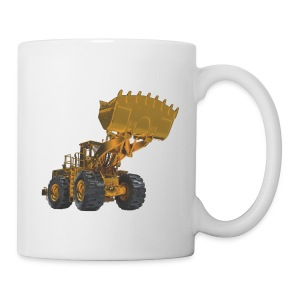 Old Mining Wheel Loader - Yellow - Coffee/Tea Mug