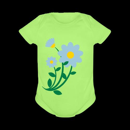 Bunch of flowers - Organic Short Sleeve Baby Bodysuit