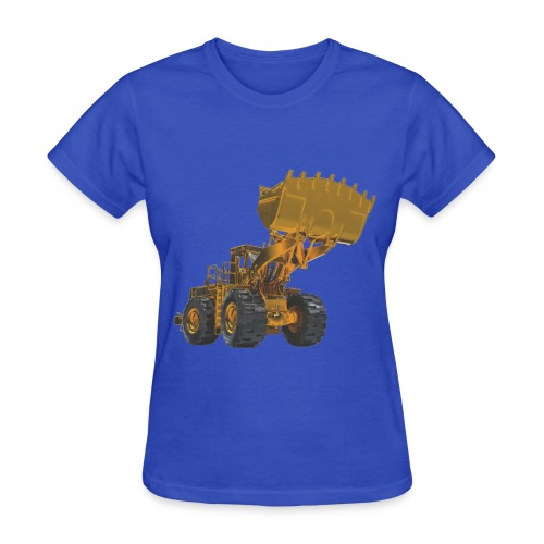 Old Mining Wheel Loader - Yellow - Women's T-Shirt
