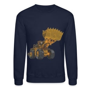 Old Mining Wheel Loader - Yellow - Crewneck Sweatshirt