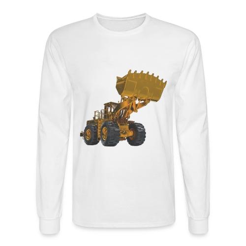 Old Mining Wheel Loader - Yellow - Men's Long Sleeve T-Shirt