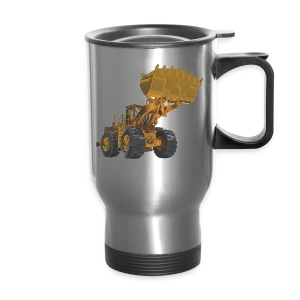 Old Mining Wheel Loader - Yellow - Travel Mug