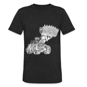 Old Mining Wheel Loader - Unisex Tri-Blend T-Shirt by American Apparel