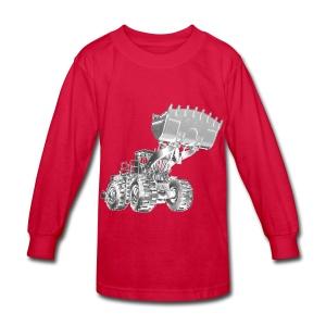 Old Mining Wheel Loader - Kids' Long Sleeve T-Shirt
