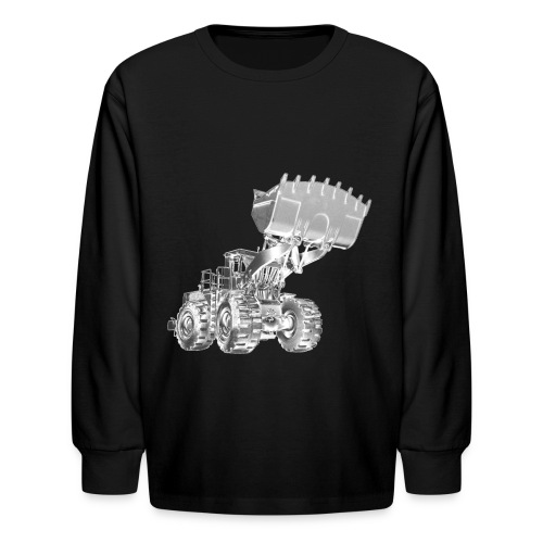Old Mining Wheel Loader - Kids' Long Sleeve T-Shirt