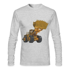 Old Mining Wheel Loader - Yellow - Men's Long Sleeve T-Shirt by Next Level