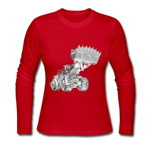 Old Mining Wheel Loader - Women's Long Sleeve Jersey T-Shirt