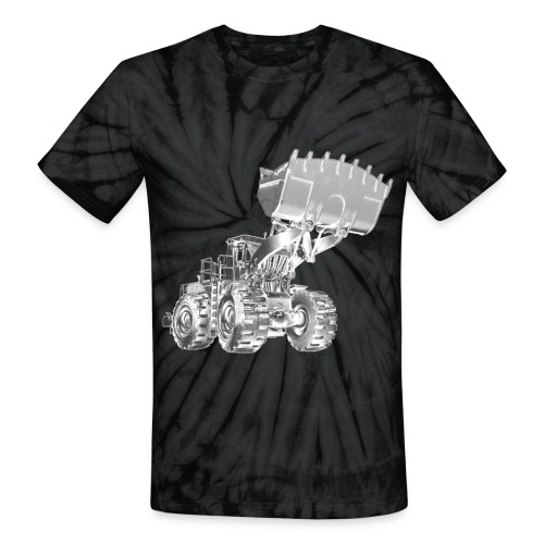 Old Mining Wheel Loader - Unisex Tie Dye T-Shirt