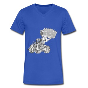 Old Mining Wheel Loader - Men's V-Neck T-Shirt by Canvas