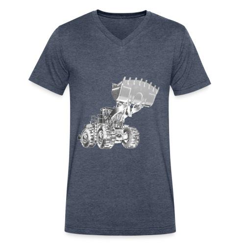 Old Mining Wheel Loader - Men's V-Neck T-Shirt by Canvas