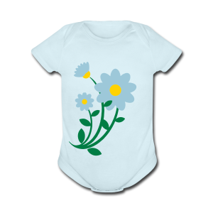 Bunch of flowers - Short Sleeve Baby Bodysuit