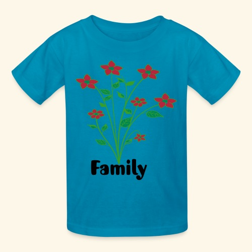 flowers and family - Kids' T-Shirt