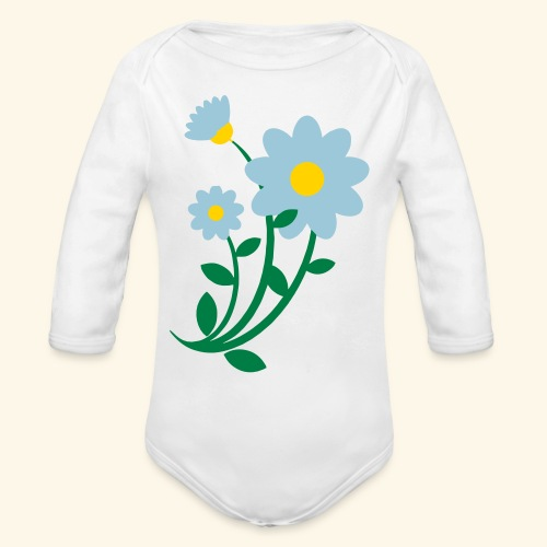 Bunch of flowers - Organic Long Sleeve Baby Bodysuit