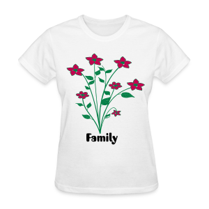 flowers and family - Women's T-Shirt