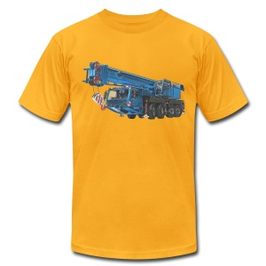 Mobile Crane 4-axle - Blue - Men's T-Shirt by American Apparel