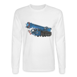 Mobile Crane 4-axle - Blue - Men's Long Sleeve T-Shirt