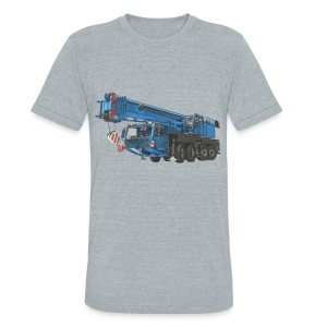 Mobile Crane 4-axle - Blue - Unisex Tri-Blend T-Shirt by American Apparel