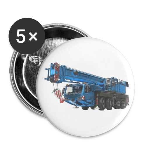 Mobile Crane 4-axle - Blue - Small Buttons