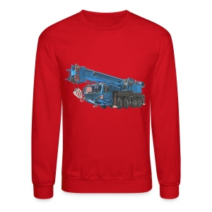 Mobile Crane 4-axle - Blue - Crewneck Sweatshirt