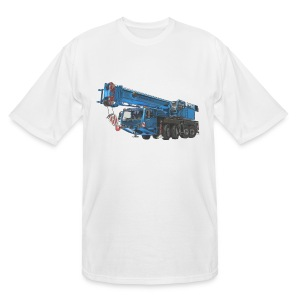 Mobile Crane 4-axle - Blue - Men's Tall T-Shirt